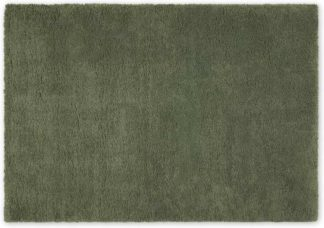 An Image of Mala Pile Rug, Extra Large 200 x 290cm, Sage Green