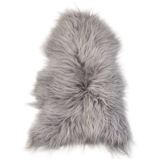 An Image of The Organic Sheep Icelandic Sheepskin Rug Silver Grey