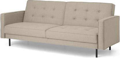 An Image of Rosslyn Click Clack Sofa Bed, Sandstone
