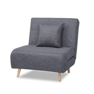 An Image of Macy Fabric Pebble Chair Bed Grey