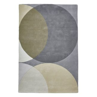 An Image of Grey Geometric Haines Rug Natural