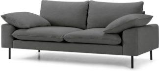 An Image of Fallyn Large 2 Seater Sofa, Stoned Slate Fabric