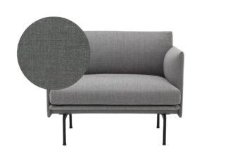 An Image of Muuto Outline Chair Kvadrat Remix 163 Dark Grey