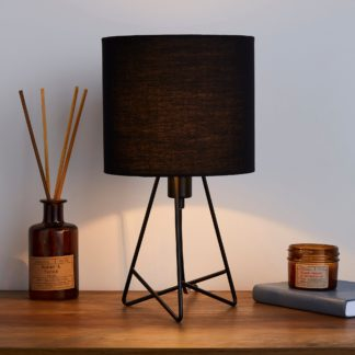 An Image of Mini Hester Black Table Lamp Black