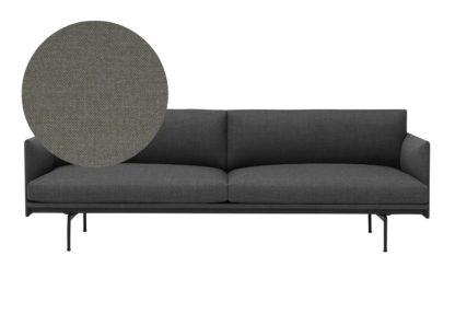 An Image of Muuto Outline 3 Seater Sofa Kvadrat Remix 163