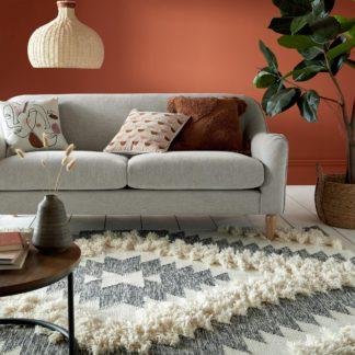 An Image of Amrita Wool Handwoven Rug Amrita Grey