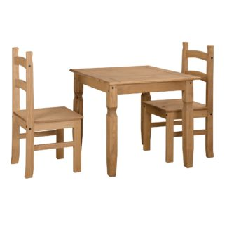 An Image of Corona Square Table Dining Set Natural