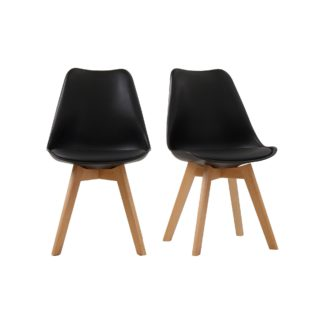 An Image of Vichy Set of 2 Dining Chairs Black