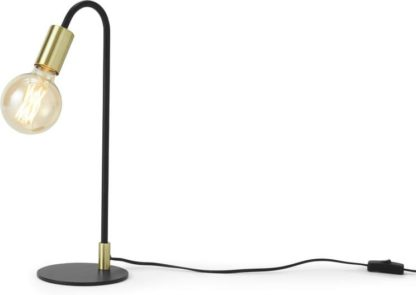 An Image of Octavia Table Lamp, Black & Brass