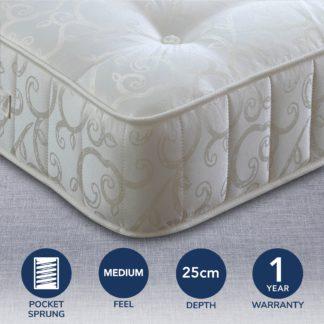 An Image of 1000 Pocket Sprung Mattress White