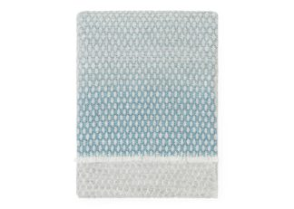 An Image of Bristol Weaving Mill Larker Textured Throw Soft Grey Large