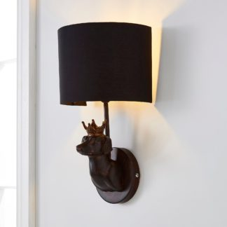 An Image of Anzo Dachshund Dog Wall Light Brown