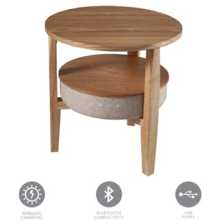 An Image of Kobe Smart Side Table Brown and Grey