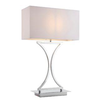 An Image of Endon Epalle Table Lamp Chrome Chrome