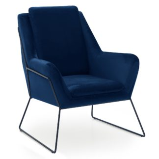 An Image of Ferne Metal Framed Chair - Midnight Midnight