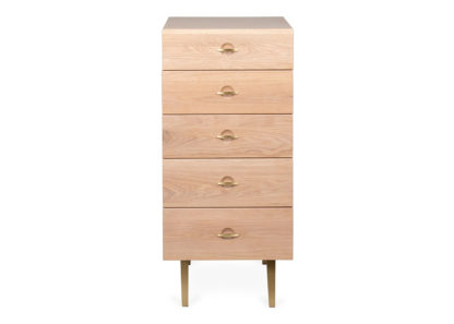 An Image of Heal's Crawford Chest of 5 Drawers Tall