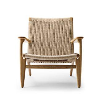 An Image of Carl Hansen & Søn CH25 armchair Oak Oil / Natural cord