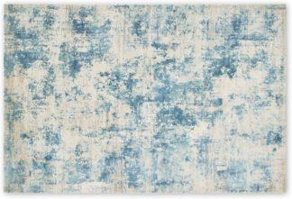 An Image of Epicoco Luxury Viscose Rug, Large 160 x 230cm, Slate Blue