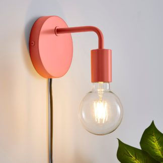 An Image of Pink Koppla Plug-in Wall Light Black