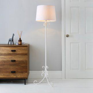 An Image of Banks White Floor Lamp Off white