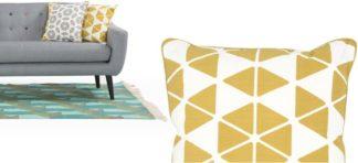 An Image of Trio Cushion 45 x 45cm, Mustard
