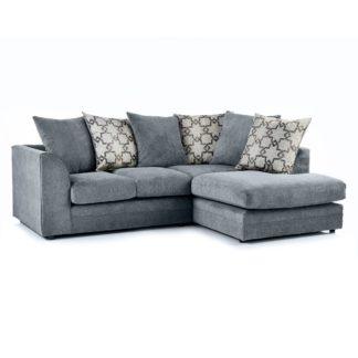 An Image of Washington Right Hand Fabric Corner Sofa Grey