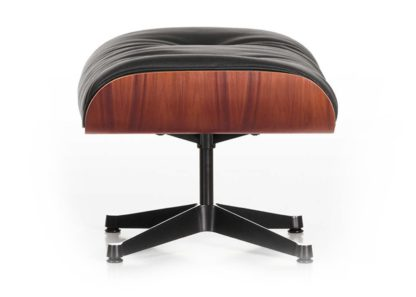 An Image of Vitra Tall Eames Lounge Ottoman in Santos Palisander & Black Leather