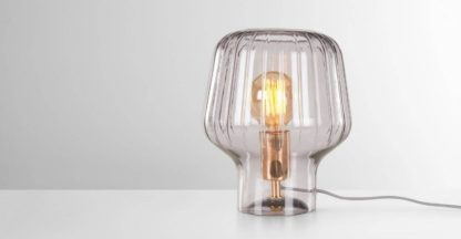 An Image of Ewer Table Lamp, Smoke Glass and Polished Copper