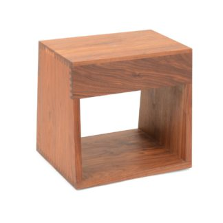 An Image of De La Espada Tall Maia Side Table Walnut