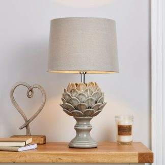 An Image of Dorma Artichoke Table Lamp Grey Grey
