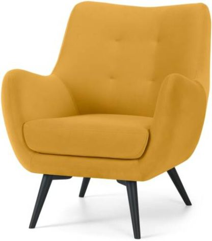 An Image of Hilda Accent Armchair, Yolk Yellow