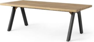 An Image of Bosco Garden Dining Table, Black & Acacia Wood