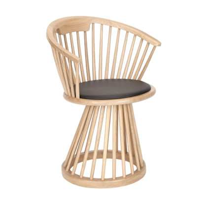 An Image of Tom Dixon Fan Dining Chair Black