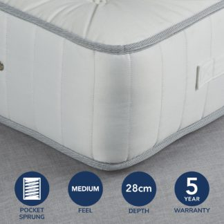 An Image of Fogarty Wool Value 1000 Pocket Sprung Mattress White