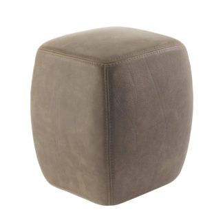 An Image of Riva 1920 Betty Pouf Taupe Leather