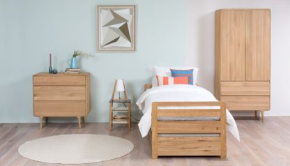 An Image of Heal's Store Storabed & 2 Mattresses in Solid Oak