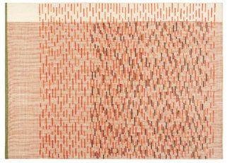 An Image of Gandia Blasco Backstitch Busy Rug in Brick Red 200 x 300cm