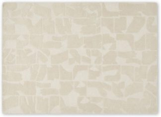 An Image of Rudzi Handtufted Wool Rug, Large 160 x 230cm, Soft Taupe