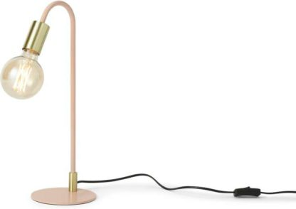 An Image of Octavia Table Lamp, Pink & Brass