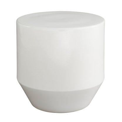 An Image of Ligne Roset Soixante 3 Stone Enamalled White Occasional Table