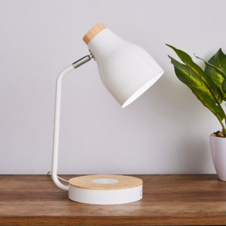 An Image of Imogen Phone Charger Table Lamp White