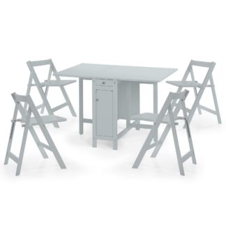 An Image of Savoy Grey Dining Table and 4 Chairs Grey