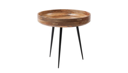 An Image of Mater Bowl Table Small Black Stained Mango Wood