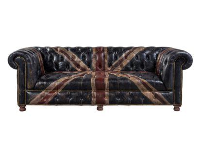An Image of Timothy Oulton Westminster Button 3 Seater Sofa