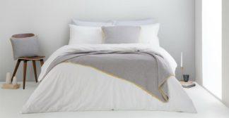 An Image of Alexia Stonewashed Cotton Duvet Cover + 2 Pillowcases, Super King, White UK