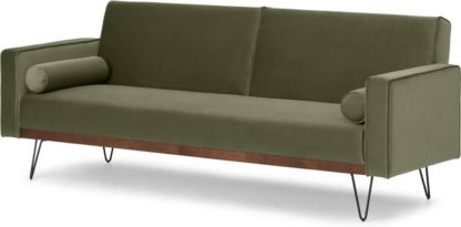 An Image of Warner Click Clack Sofa Bed, Sycamore Green Velvet