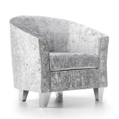 An Image of Starlet Tub Chair - Silver Silver