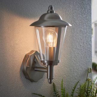 An Image of Endon Klien Outdoor Wall Light Steel Grey