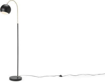 An Image of Jak Arch Overreach Floor Lamp, Black & Brass