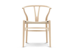 An Image of Carl Hansen & Søn Wishbone Chair CH24 Soaped Beech Natural Paper Cord Seat